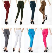 Pantalons Harem colorés taille haute Sr8228