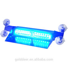 Auto Windshield-Mount Interior Light LED Warning Visor Light Blue