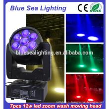 7pcs12w луча мытья головы LED перемещение RGBW 4 в 1