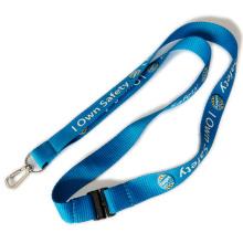 Lanières de transfert de chaleur de boucle de sécurité de rupture de couleur bleue pour le support de badges