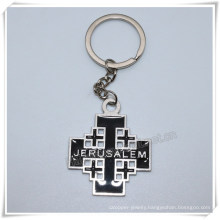 Alloy Metal Black Cross Key Chain Personalized Religious Cross Key Chlder (IO-ck108)