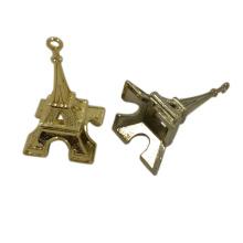 Швейное оборудование пользовательские 3D металл Эйфелева башня бирки