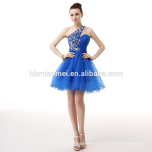 2017 neue Mode One-Shoulder Blau Mini Lady Abendkleid