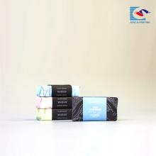 caja impresa en color brillante para jabón perfumado y embalaje de regalo