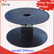 plastic spool for wire shipping snap hook design