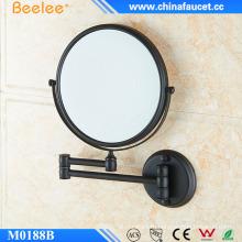 Модное настенное зеркало черного цвета выдвижное компактное зеркало