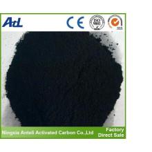 Purificación de agua activada en polvo de carbón