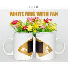 Tasse magique en céramique revêtue de sublimation, l'usine de Yiwu fournit directement