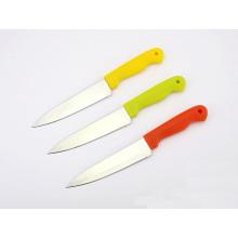 """5 """"facas de serviço público de aço inoxidável, facas vegetais, faca de cozinha com punho plástico"""