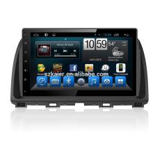 Navegación del gps del coche del core quad con la cámara inalámbrica del Rearview, wifi, BT, vínculo del espejo, DVR, SWC para Mazda cx-5