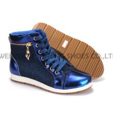 Zapatos de mujer ocio PU zapatos con suela de cuerda Snc-55013