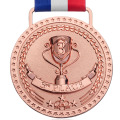 Antique Finish Bronze Medals With Ribbon