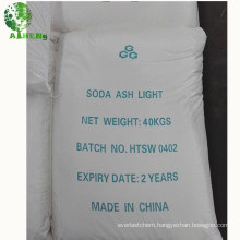stable quality China manufacturer food grade soda ash light 99% price for sales