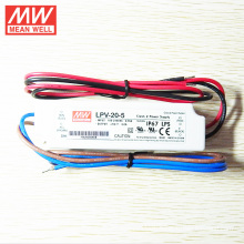 MEANWELL 5Vdc 3A waterproof LED driver with UL CE LPV-20-5