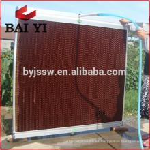 Cojín de enfriamiento / cortina mojada para el sistema de ventilación del invernadero / de las aves de corral