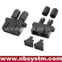 SC / PC - ST / PC HYBIRD PLASTICS Adaptador dúplex de un solo modo