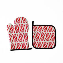 Customized Design Printed Microwave Oven Mitts Heat-Protect Gloves
