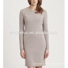 подгонянный фабрикой и оптовой базовый стиль 100% чистый кашемир свитер платье