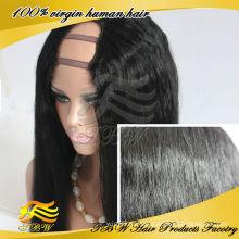 ОКВО новых продуктов #1 угольно-черный U часть парик яки прямой пробор U часть парики оптом