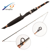 BAR008 Venda quente puro naro carbono vara de pesca de graves