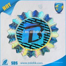 Hacer pegatinas holográficas de seguridad