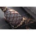 polyester curtain tassel tiebacks,brown mix creamy color yarn