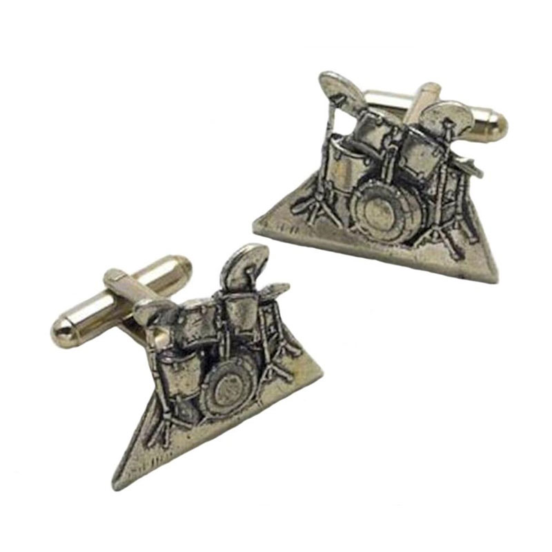 Drum Kit English Pewter Cufflinks