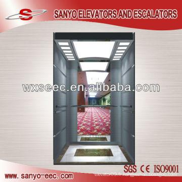 Verre et miroir Acier inoxydable Passager Ascenseur