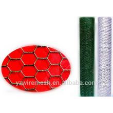 Maille hexagonale en PVC / treillis métallique hexagonal galvanisé / treillis hexagonal noir
