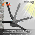 36LED Solar Motion Sensor Wall Light Outdoor Street Lamp with Remote Control Waterproof Garden Street Lamp Adjustable Brightness