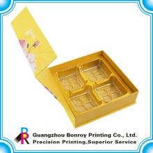 Изготовленный На Заказ Желтый Картон Роскошного Подарка Торта Луны Упаковывая Коробка