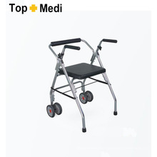 Topmedi Medical Foldable Aluminum Rollator with Two Wheels