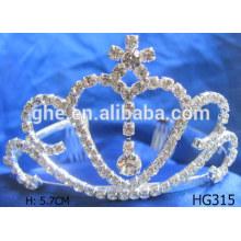 Party Tiara Kronen Rhinestone Silber Tiaras rosa Kinder Prinzessin Tiara