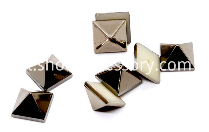 Square ABS Studs in Gun-Metal