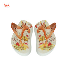 Factory Custom 3D transfer printing Flip Flops slipper EVA Heat Transfer stickers customized