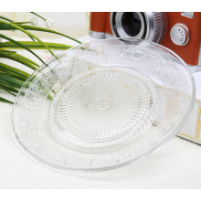 Eco-friendly Round Clear Glass Dinnerware Plate Set,round clear plate