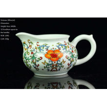 Famille Rose Blue & White Porcelain, Big Red Flower Pitcher, 200cc / pichet