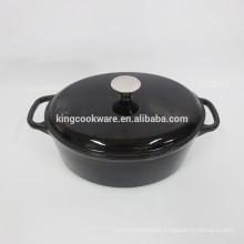 Wholesale Restaurant Cookware  Black enamel oval cast iron casserole/cookware/pot/wok