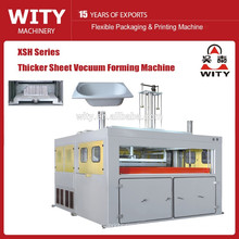 Semi auto plastic thick sheet thermoforming machine