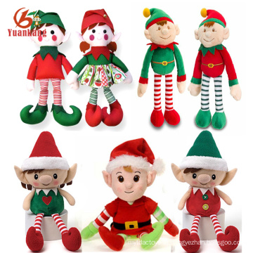 China Custom Mini Bonito Elfos De Pelúcia Macia Boneca De Natal De Pelúcia Elf Brinquedo