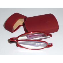 Gafas de lectura de metal con estuche de plástico