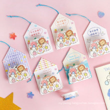 Cute Animal Masking Washi Tape Sticky Paper Tape for DIY, Gift Wrapping, Scrapbooking