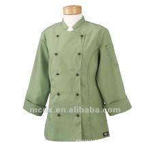 Custom Hot sale work wear manga comprida restaurante uniforme