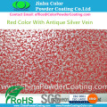 RAL3020 Vermelho com Antique Silver Vein Powder Coatings