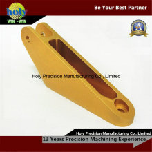 Gelber anodisierter CNC-Aluminium zerteilt kundenspezifische Verbindungsstück CNC-Teile