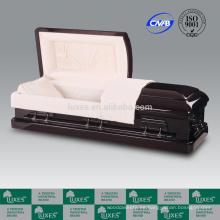 LUXES ataúdes de madera estándar alta cama Funeral suministros