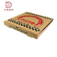 Großhandelsneues Design recyclebare flache Verpackungskasten der Gewohnheit Pizza
