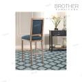 Haute qualité meubles anciens en bois haut dossier tabouret chaise haute