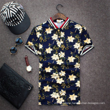 15PKPT13 2015 casual holiday printed 100% polo t-shirt
