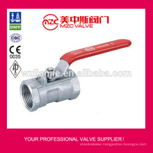 304 316 1PC Ball Valves Threaded Ends 1000WOG 1PC Ball Valves